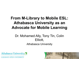 Use of Mobile Learning to Train English as a Second