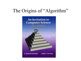 "The Origins of ""Algorithm"""