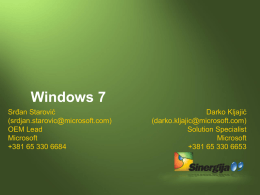 Windows 7 for the EnterpriseMakes the things you do today