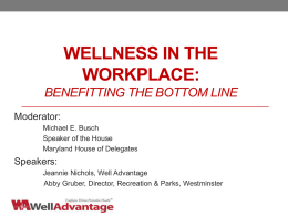 WORKPLACE WELLNESS 101: STEPS TO CREATE A …