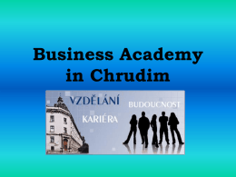 Business Academy in Chrudim