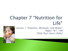 "Chapter 7 ""Nutrition for Life"""