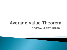 Average Value Theorem