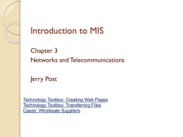 Introduction to MIS Chapter 1