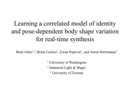 Learning a correlated model of identity and pose