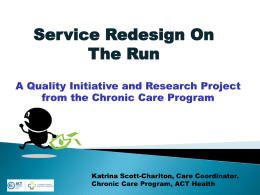 Chronic Care Program Canberra Hospital