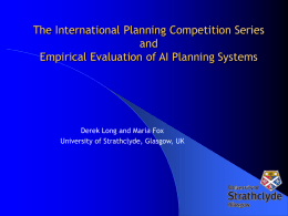 The International Planning Competition Series and