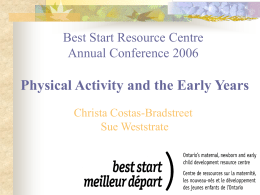 Physical Activity and the Early Years Train-the