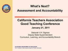 What's Next? - Common Core State Standards Resources (CA