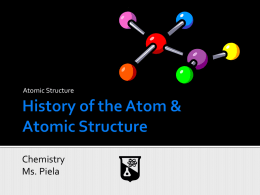 History of the Atom & Atomic Structure