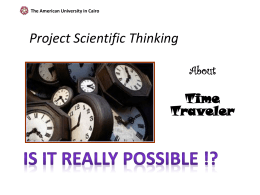 The American University in Cairo Project Scientific Thinking