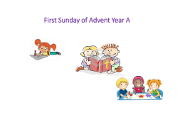 First Sunday of Advent Year A