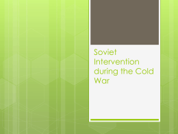 Soviet Acts of Aggression during the Cold War