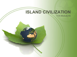 ISLAND CIVILIZAITION