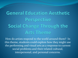 General Education Aesthetic Perspective Analyzing Style