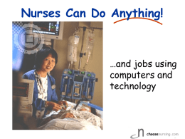 NURSING - Coalition for Nursing Careers in California