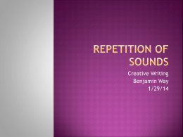 Repetition of Sounds