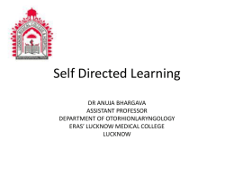 Self Directed Learning - King George's Medical University
