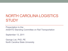 Experience with Creating A State Logistic Advisory Council