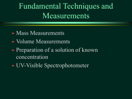 Fundamental Measurements