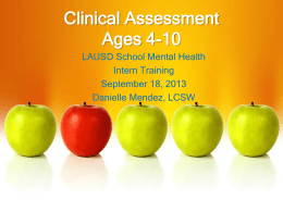 Clinical Assessment Ages 4-10
