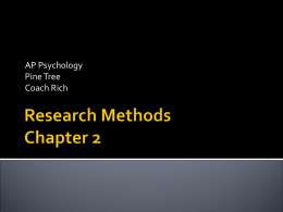Research Methods Chapter 2 - Pine Tree Independent School