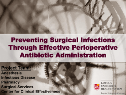 Preventing Surgical Infections Through Effective