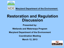 Click to add title - Maryland Dept. Of The Environment