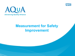 Measurement for Safety Improvement