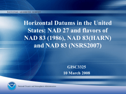 New Nationwide Readjustment NSRS 2007