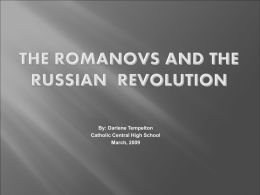 The Rise & Fall of the Romanov Dynasty
