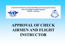 APPROVAL OF CHECK AIRMEN - COSCAP