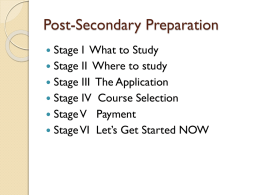 Stage 1 What to Study!