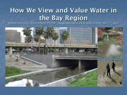 How We View and Value Water