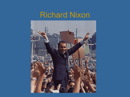Richard Nixon - Johnston County Schools