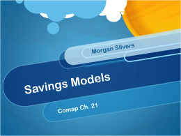 Savings Models - College of William & Mary