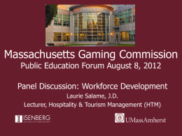 Click to Add Title - Massachusetts Gaming Commission