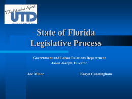 Legislative Advocacy—What is it and why is it important to
