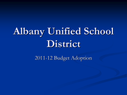 Albany Unified School District