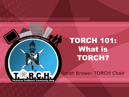 TORCH 101:How to Start, Fund, and Sustain Your TORCH Program