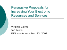 Persuasive Proposals for Increasing Your Electronic