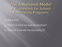Five Bits of Advice for ASCA National Model Implementation
