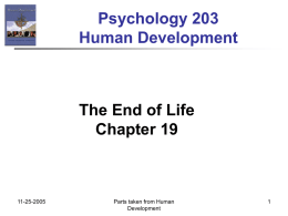 Psychology 203 Human Development