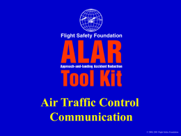 Air Traffic Control Communication