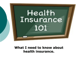 Health Insurance 101 - Brown County, Wisconsin
