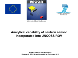 Analytical capability of neutron sensor incorporated into