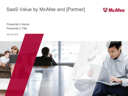 McAfee and Partner Joint Sales Presentation