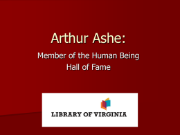 Arthur Ashe: - Virginia Memory