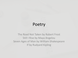 Poetry - Weebly