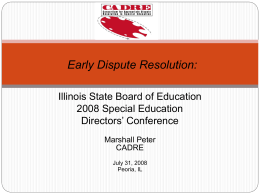 Illinois State Board of Education 2008 Special Education